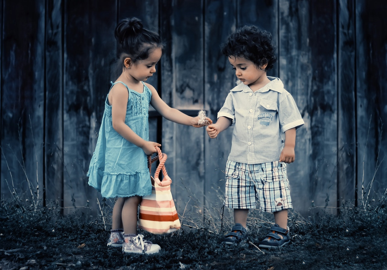 girl giving gift to her best friend