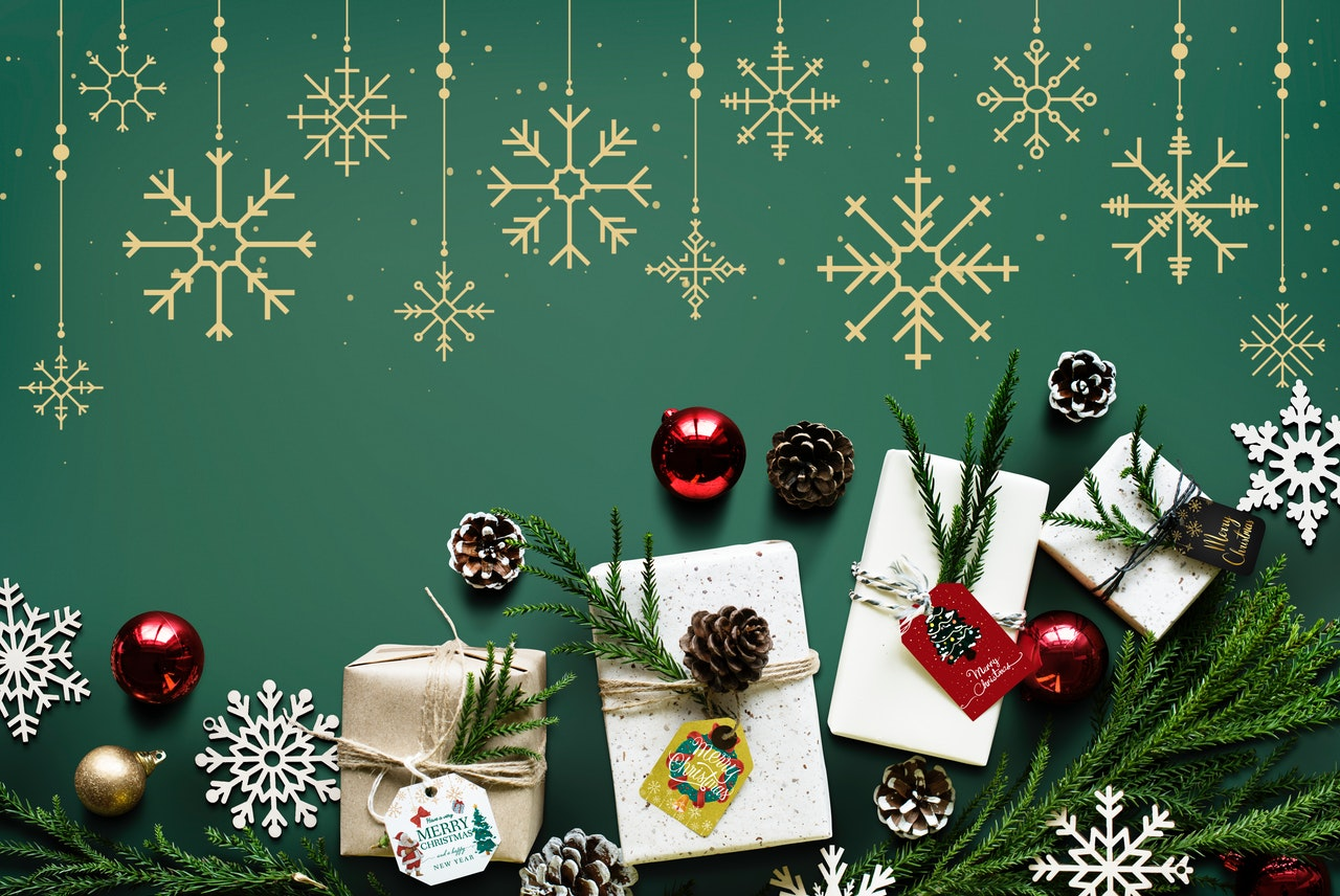 Gifts for Christmas celebration.